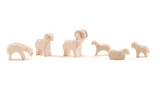 Ostheimer Wooden Sheep Small - 6pcs