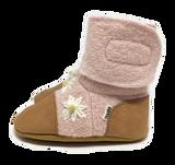 Nooks Wool Booties - Cherry Blossom
