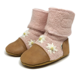 Nooks Wool Booties - Cherry Blossom