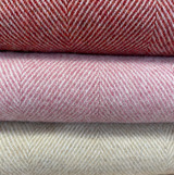 Merino Lambswool Supersoft Blanket - Rosebay Herringbone