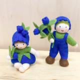 Blueberry Boy with Flower in Hand - Flower Children