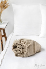 MagicLinen Queen Fitted Sheet - Natural