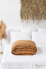 MagicLinen Queen Duvet Cover - Tan