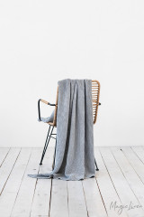 MagicLinen Waffle Throw - Light Grey