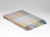 Merino Lambswool Supersoft Blanket - Coastal Check