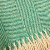 Merino Lambswool Supersoft Blanket - Spearmint Herringbone