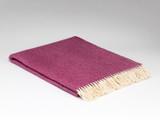 Merino Lambswool Supersoft Blanket - Beetroot Herringbone