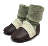 Nooks Wool Booties - Moss