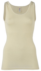 Engel Organic Merino Wool/Silk Women's Tank Top - Natural