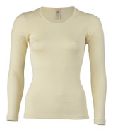 Engel Organic Merino Wool/Silk Women's Long Sleeved Shirt - Natural