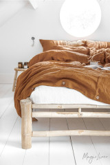 MagicLinen Queen Duvet Set - Cinnamon