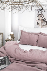 MagicLinen Queen Duvet Set - Woodrose