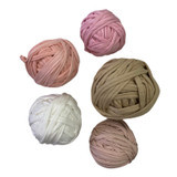 Cotton Knitting Thread - Beige and Pink Colours