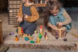 Grapat Wood Together Coloured Nins, 12pcs