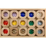 Papoose Window Coins Rainbow, 15pcs