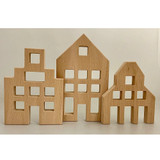 Papoose Building Lucite Houses Set, 3pcs