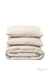 MagicLinen Queen Duvet and Cover Set - Natural