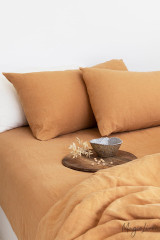 MagicLinen Queen Duvet and Cover Set - Tan