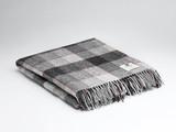 Pure 100% Wool Blanket - Red & Grey Block