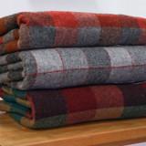 Pure Wool Blanket - Fireside Check