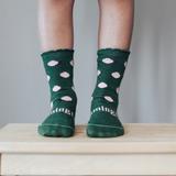 Lamington Crew Length Wool Socks - Thyme