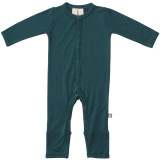 Kyte Baby Bamboo Button Romper in Emerald