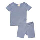 Kyte Baby Bamboo Short Sleeve Toddler Pajamas in Slate