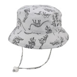 Puffin Gear Cotton Camper Sun Hat - Dinosaurs