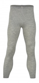 Engel Organic Merino Wool/Silk Men's Leggings - Grey