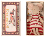 Maileg Big Sister Mouse in Box - Red and White Stripe Dress