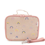 SoYoung Raw Linen Lunch Box - Neo Rainbows