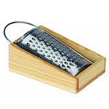 Glueckskaefer Stainless Grater with Wooden Tray