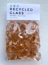 Pink Pebble Glass Beads