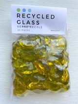 Yellow Pebble Glass Beads