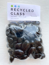 Black Pebble Glass Beads
