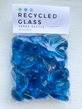 Turquoise Pebble Glass Beads
