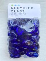 Dark Blue Pebble Glass Beads