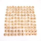 Wooden Coins - Symbols Set