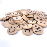 Wooden Coins - Alphabet Set