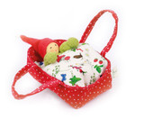 Nanchen Small Gnome in Carrying Cot Red