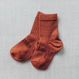 Lamington Crew Length Wool Socks Brick