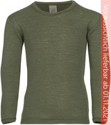 Engel Organic Merino Wool/Silk Kids Shirt - Olive