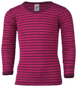 Engel Organic Merino Wool/Silk Kids Shirt - Raspberry/Orchid
