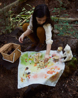 Illustrated Mini Playsilks Autumn Fairy