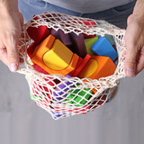 Grimm's 60 Wooden Geo-Blocks - Multi Coloured