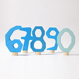 Grimm's Deco Numbers 6 to 9, 0 - Blue
