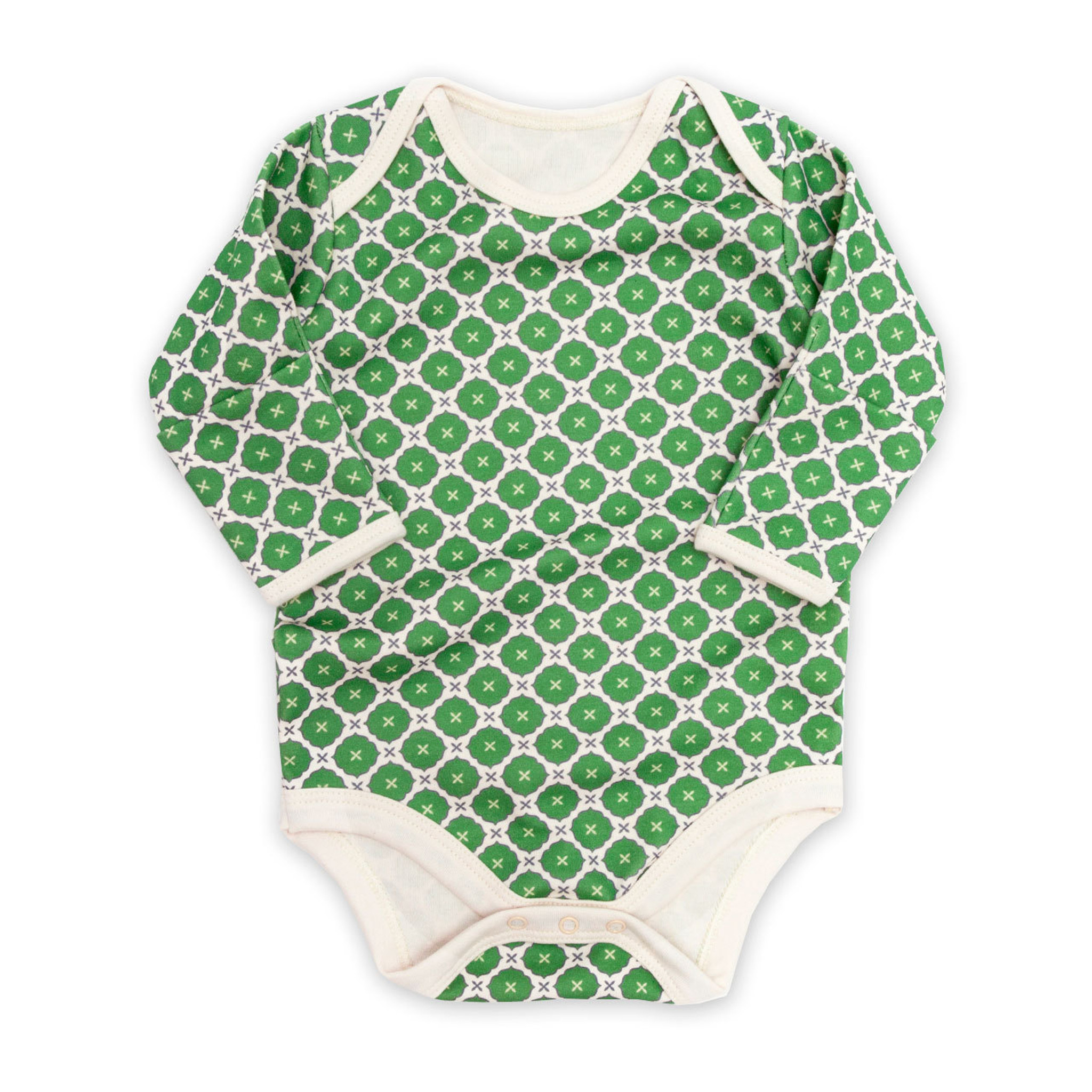 16e202c8f Jasper Long Sleeved Baby Onesie Green - Made in Canada - Ava's Appletree