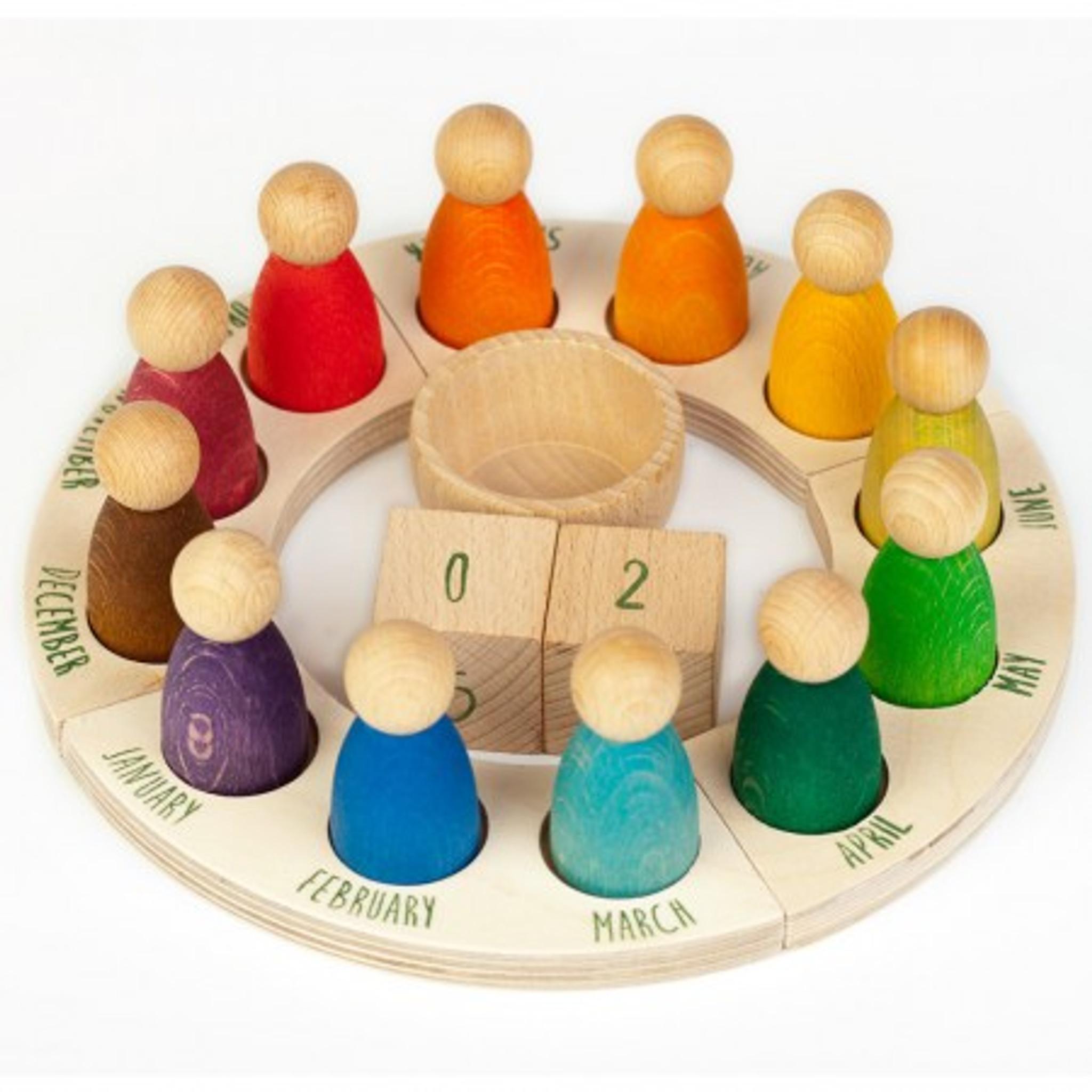 Grapat Perpetual Calendar English Waldorf Toys Montessori Toys