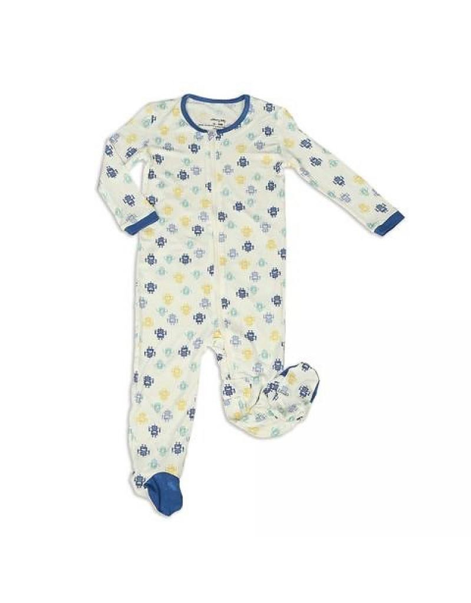 Bamboo Footed Sleeper Robot - Silkberry Baby - Ava s Appletree f8652defb