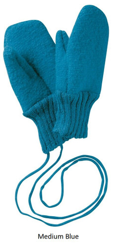 Disana Boiled Wool Gloves Medium Blue